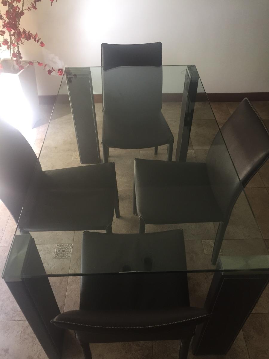 Mesa De Cocina + 4 Sillas - Tapa De Vidrio / Eco Cuero - $ 10.000,00 ...