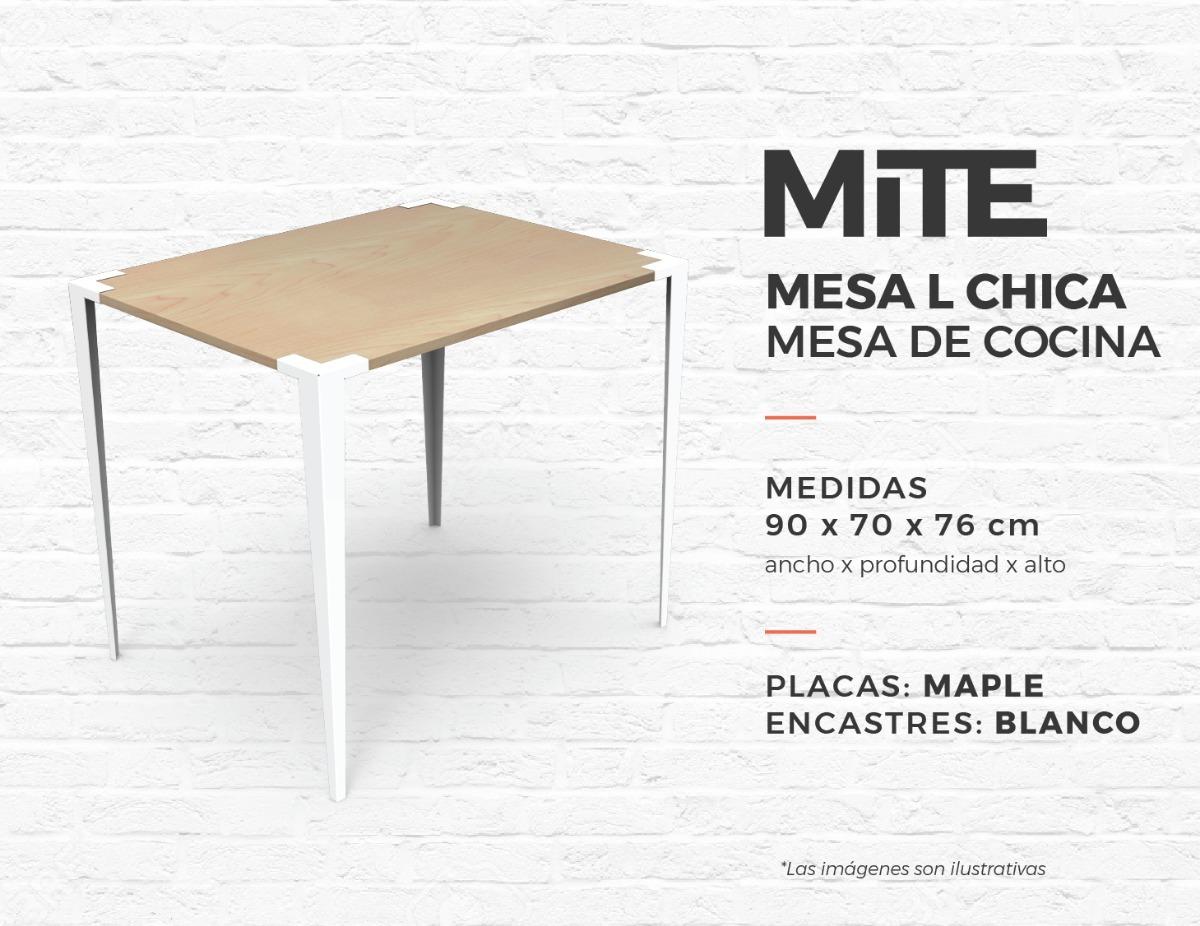 Mesa De Cocina Chica Para Armar | Mite - $ 2.400,00 en Mercado Libre
