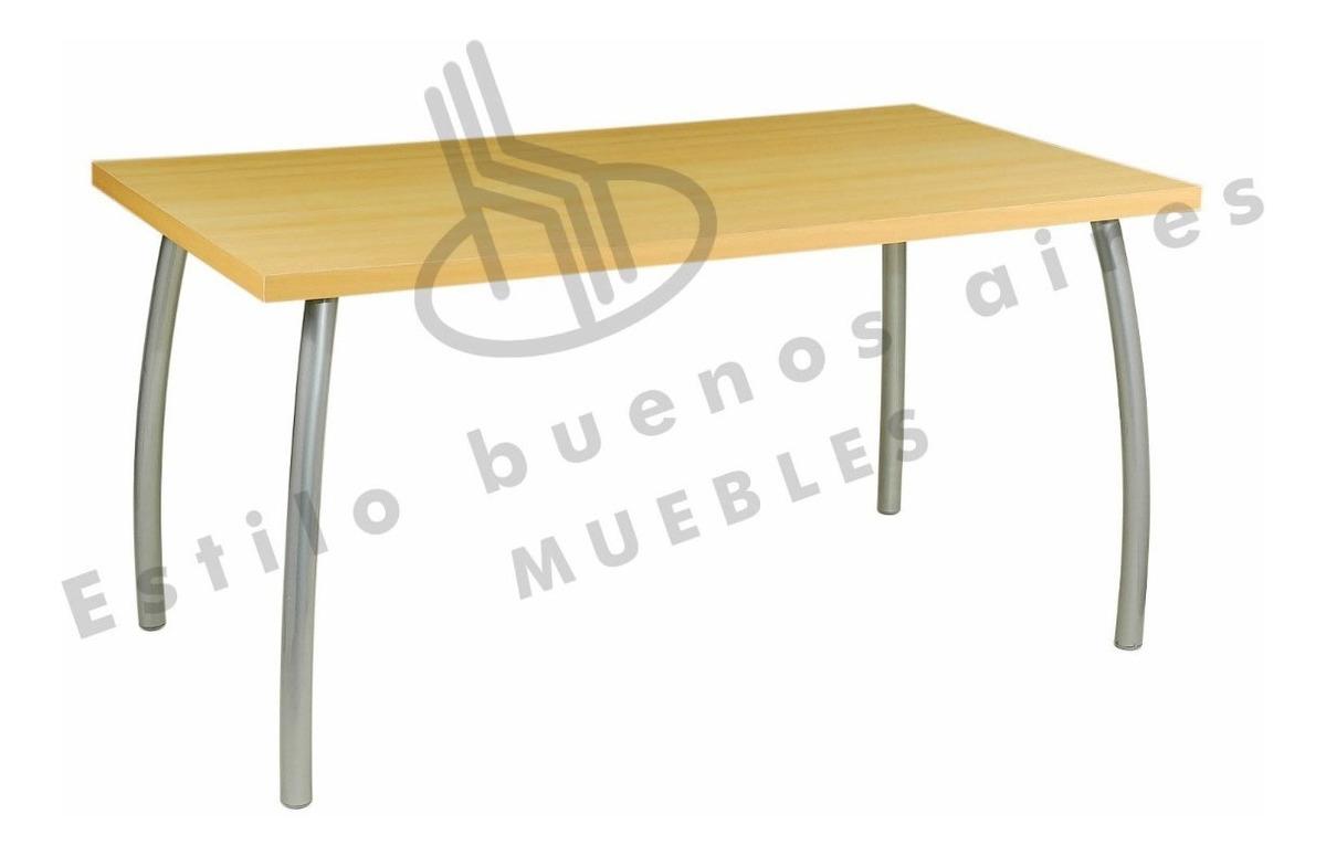 Mesa De Cocina/ Comedor 1.80x0.90 En Melamina Y Caño Fabrica