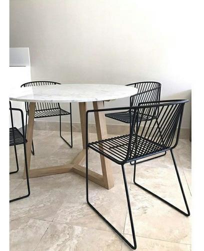 mesa de cocina de marmol carrara
