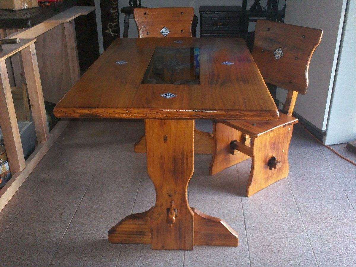 Mesa de cocina o comedor estilo colonial en - Cocinas estilo colonial ...