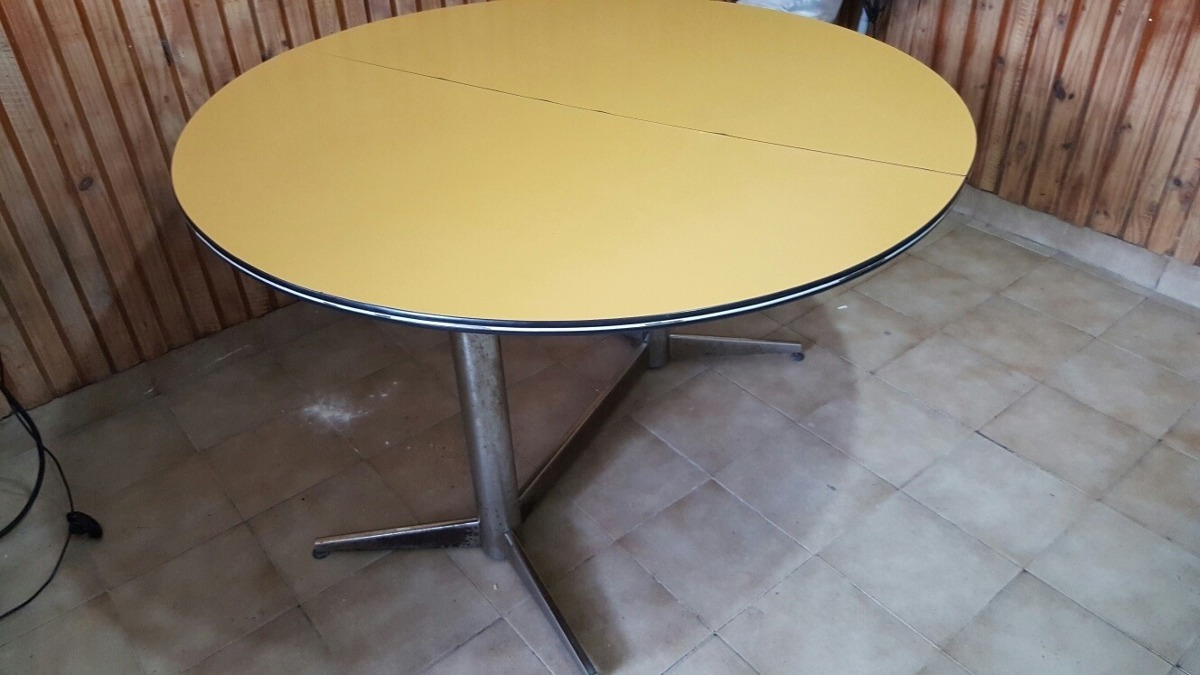 Mesa De Cocina Redonda Extensible Me Sirve Cambiar Por Tv - $ 5.500,00
