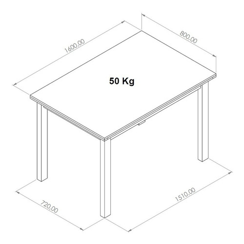 mesa de comedor 160 cm largo x 080 cm ancho madera rustica