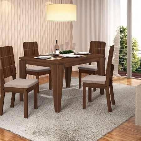 Mesa De Comedor + 4 Sillas Moderno Diseño - U$S 249,00 en Mercado Libre
