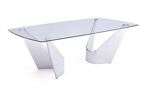 Mesa De Comedor Acero Inox Y Cristal Viterbo 12 Msi - $ 32,000.00 en ...