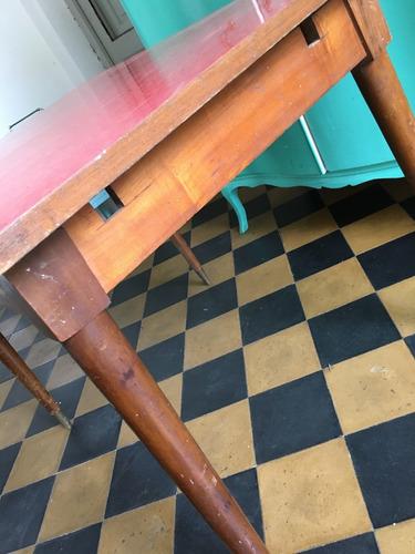 mesa de comedor americana vintage retro antigua extendible