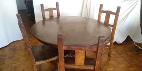 Mesa De Comedor Antigua Estilo Ingles Extensible