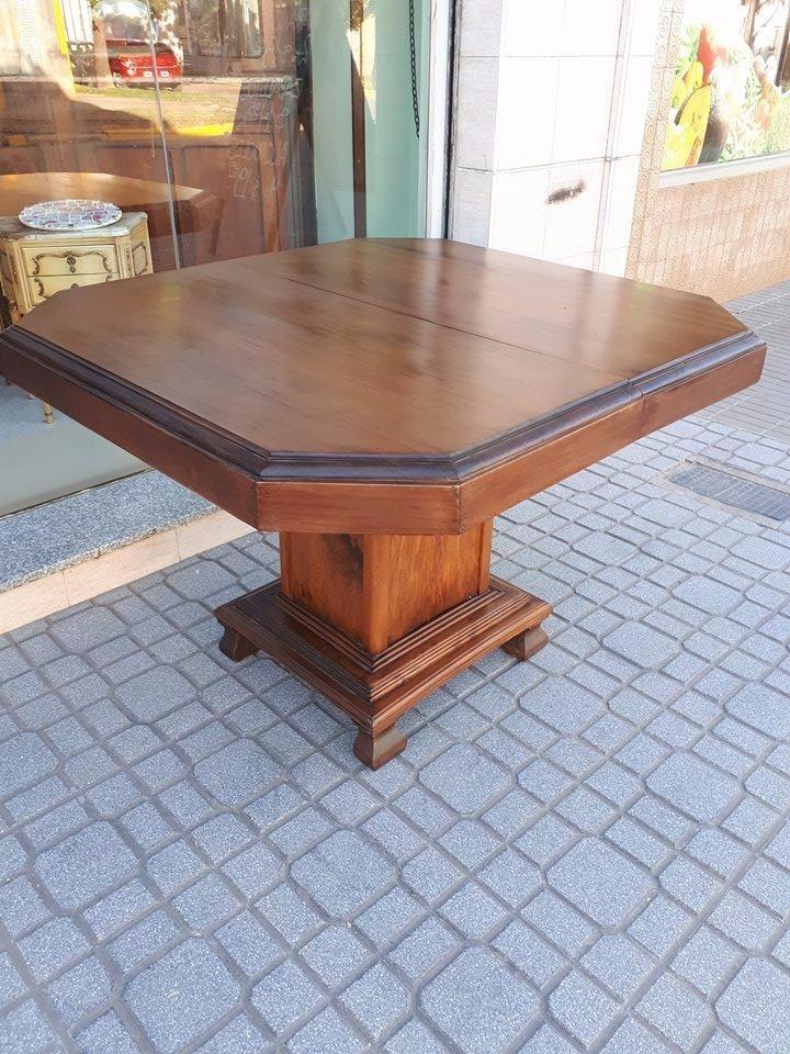 Mesa De Comedor Antigua Extensible Art Deco Roble Macizo - $ 9.500 ...