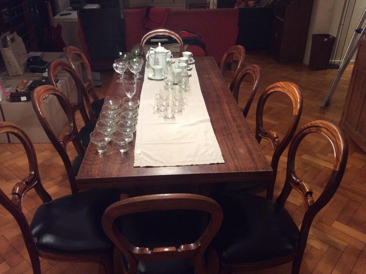 Mesa De Comedor Antiguo Reina Ana De 175x80 Exten. A 2,25m ...
