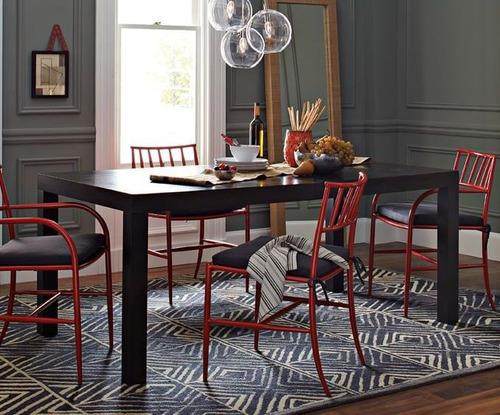 mesa de comedor asia laqueada moderna madera 200 x 80 cm.
