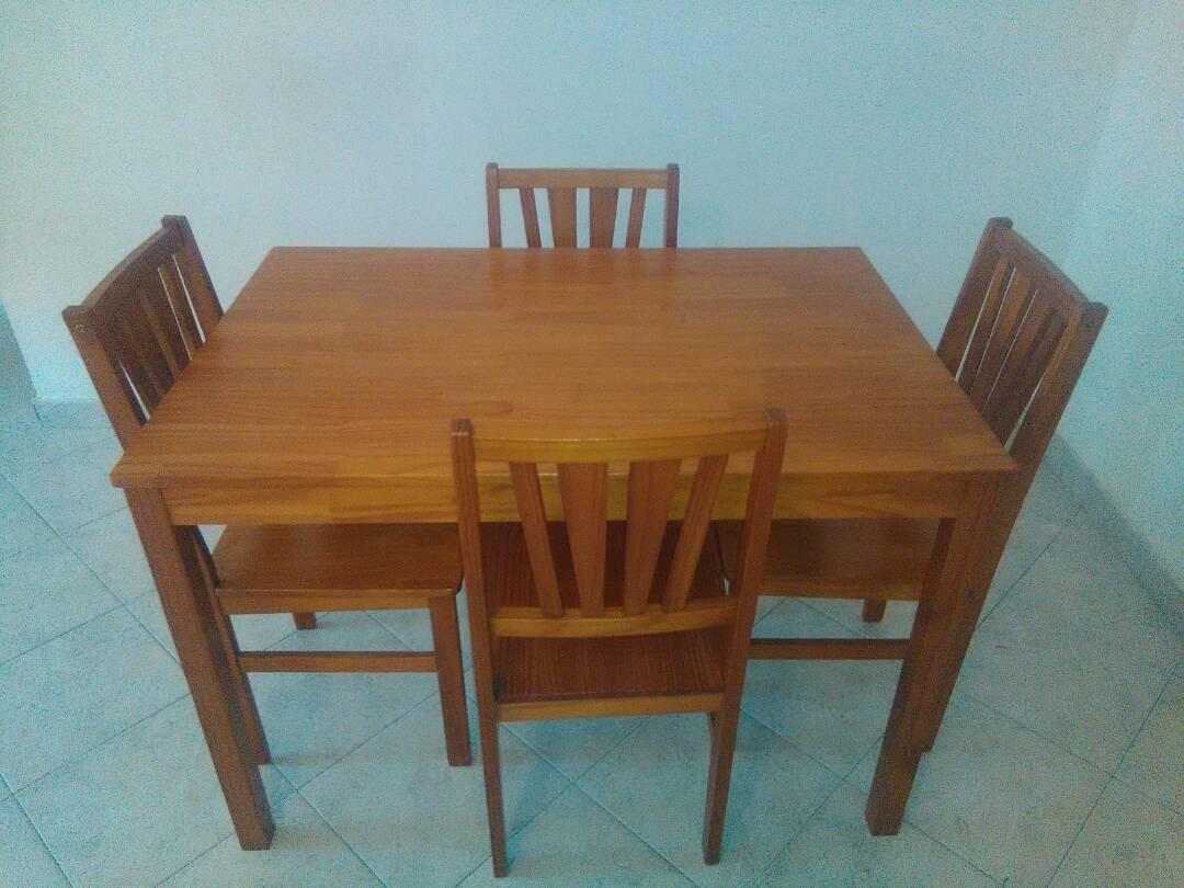 Mesa De Comedor Bima 4 Puestos Bs 13 500 000 00 En Mercado Libre # Muebles Bima Comedores
