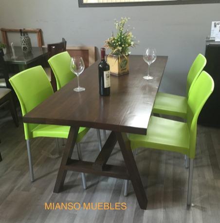 Mesa de comedor con 4 sillas 4 en mercado libre for Mesa de comedor 4 sillas