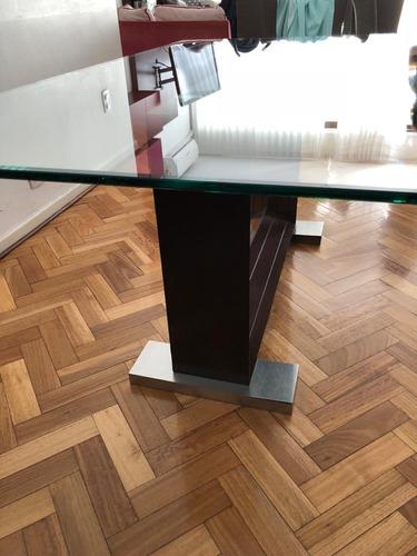 mesa de comedor de vidrio - excelente estado 1,80m x 1,00