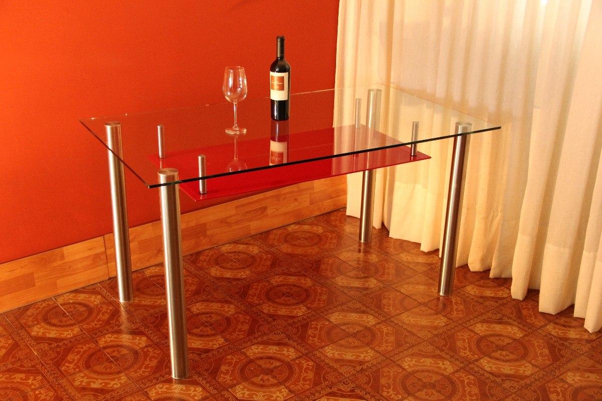 Mesa De Comedor De Vidrio Moderna - $ 10.300,00 en Mercado Libre