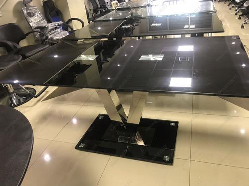 mesa de comedor de vidrio templado