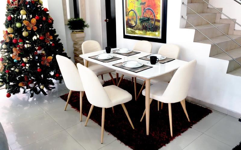 Mesa De Comedor Diseño Moderno Paris 6 Puestos