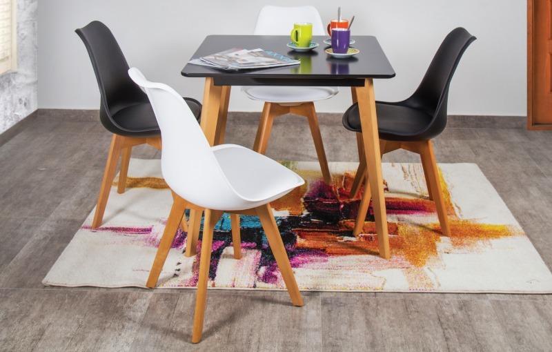 Mesa De Comedor Diseño Moderno Verona 4 Puestos Blanco