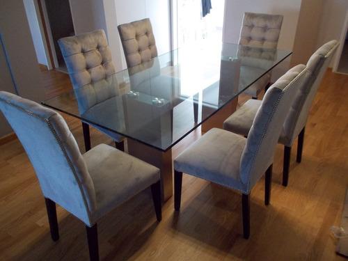 mesa de comedor doble kubo acero inoxidable