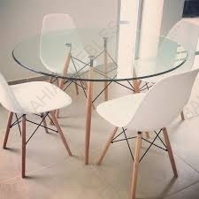 mesa de comedor eiffel eames vidrio templado