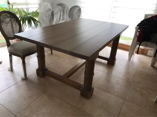 mesa de comedor en alamo ideal barbacoa rustica