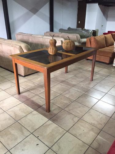 mesa de comedor en madera cenizaro  para 6 sillas