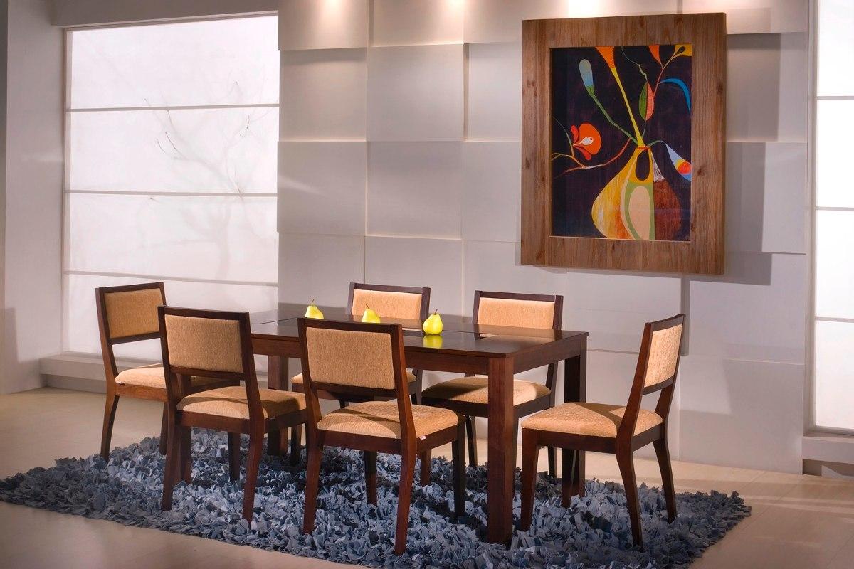 Mesa de comedor en madera y vidrio u s 350 00 en mercado for Mesas de comedor de vidrio y madera