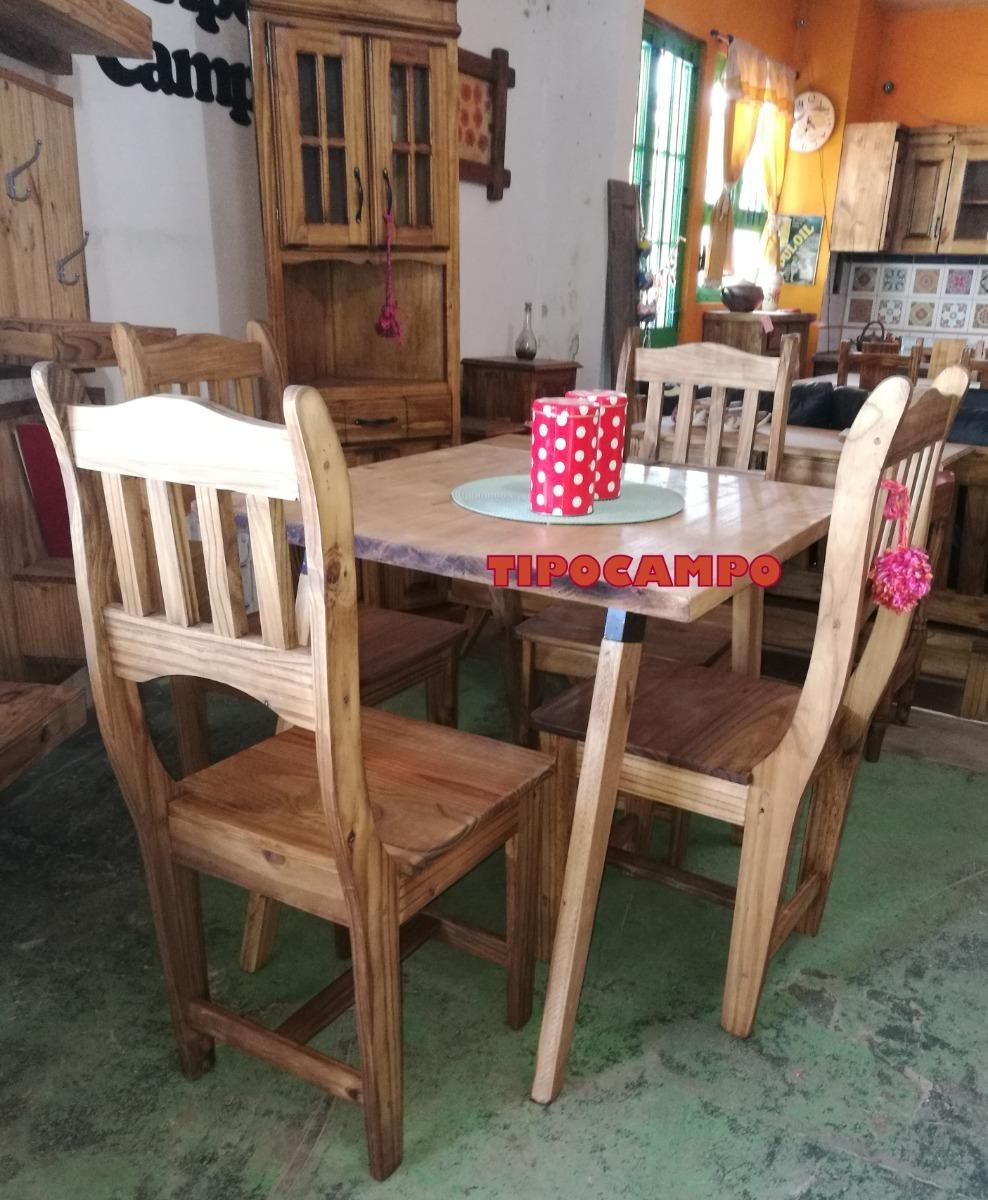 Mesa De Comedor Estilo Vintage ,escandinava,retro,madera - $ 7.227 ...