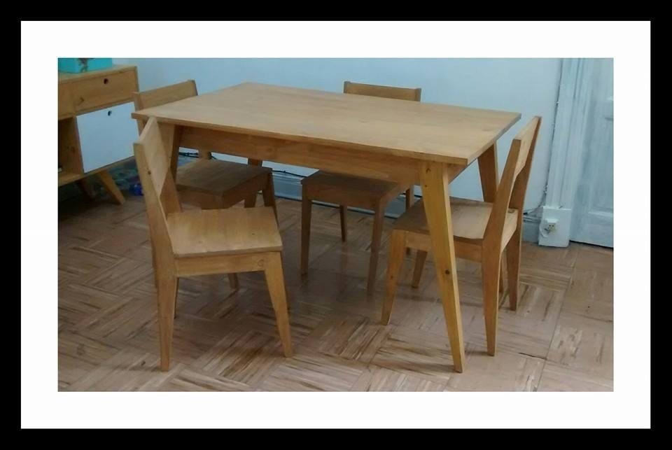 Mesa De Comedor Estilo Vintage Retro Escandinava