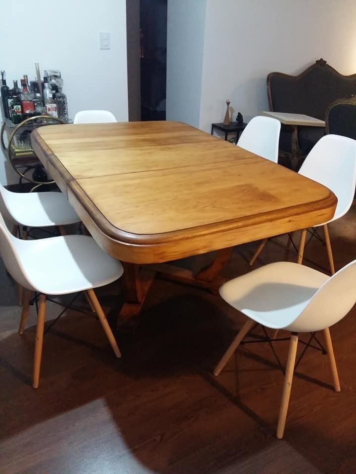 Mesa De Comedor Extensible Art Decó Restaurada - $ 7.500,00 en ...