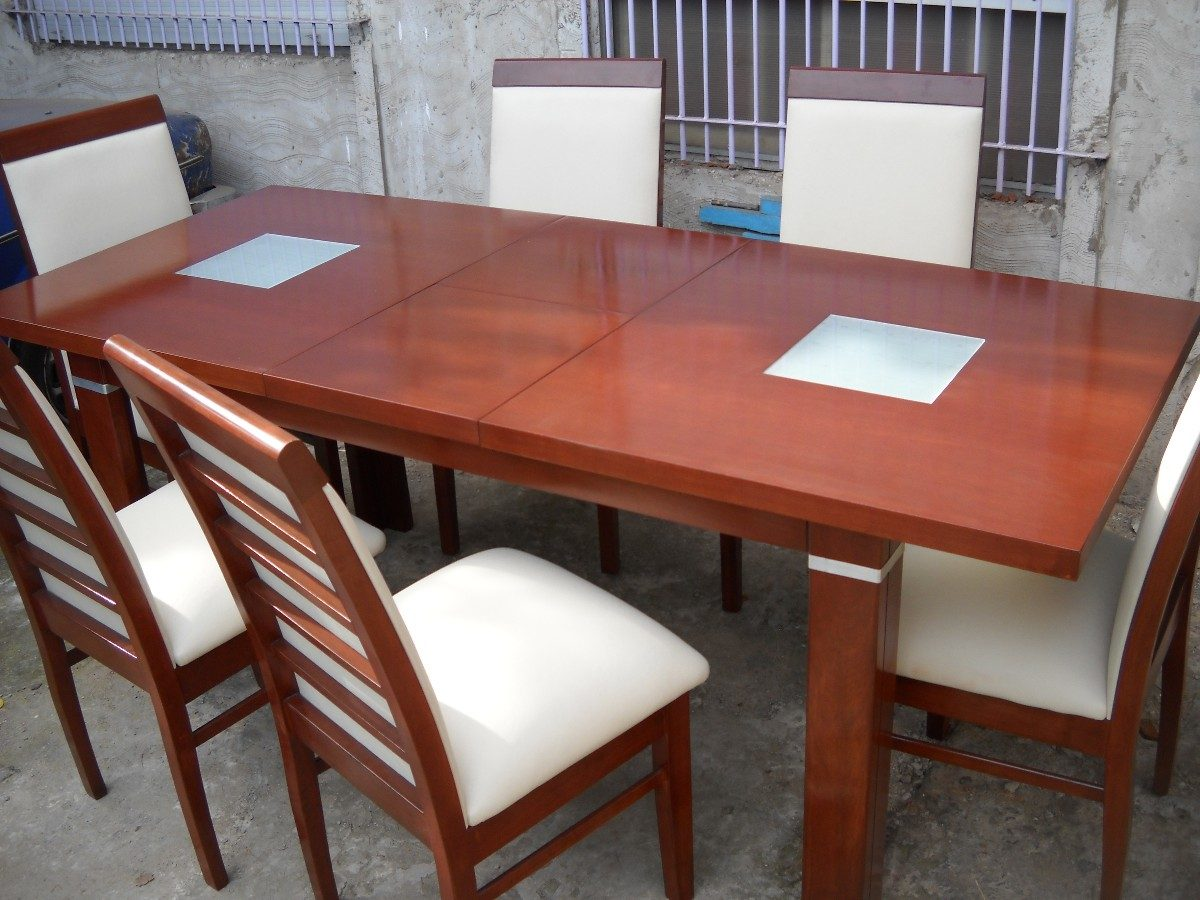 Mesa De Comedor Extensible De 160mts A 200mts + 4 Sillas - $ 17.800 ...