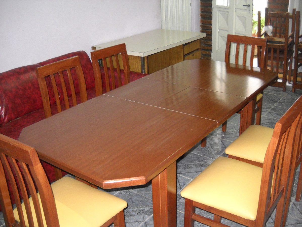 Mesa De Comedor Extensible De 160mts A 210mts + 6 Sillas - $ 24.500 ...