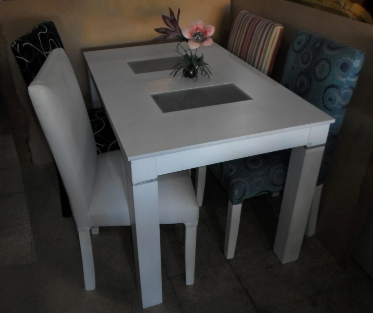 Mesa De Comedor Fija Con Vidrios 1 60m 2 170 00 En Mercado Libre # Muebles Faciles Liniers