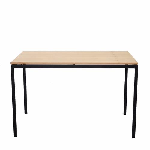 mesa de comedor hierro negra o blanca 1,20 x 0,70