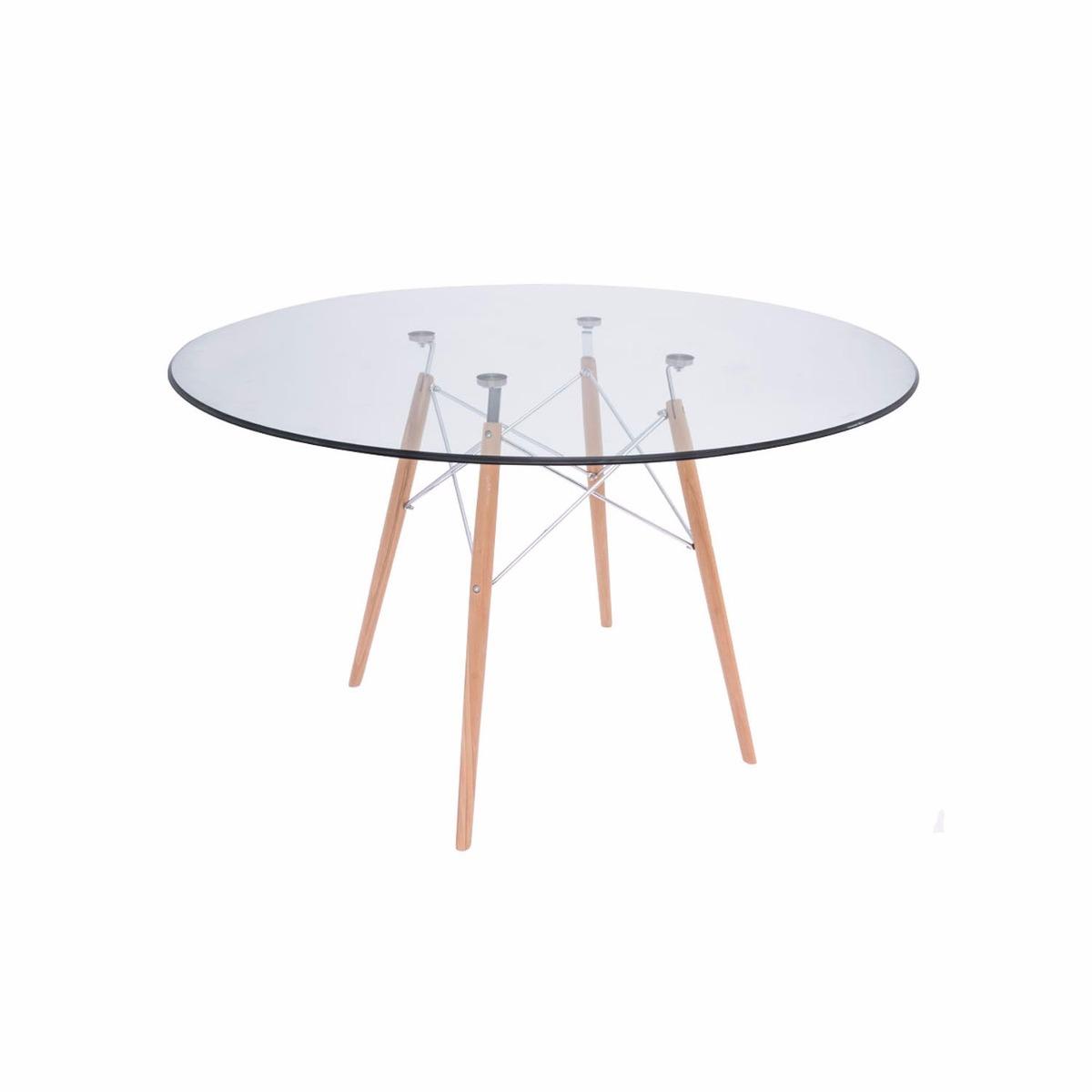 Mesa de comedor logs de vidrio y acero negro 3 - Mesa comedor cristal y acero ...