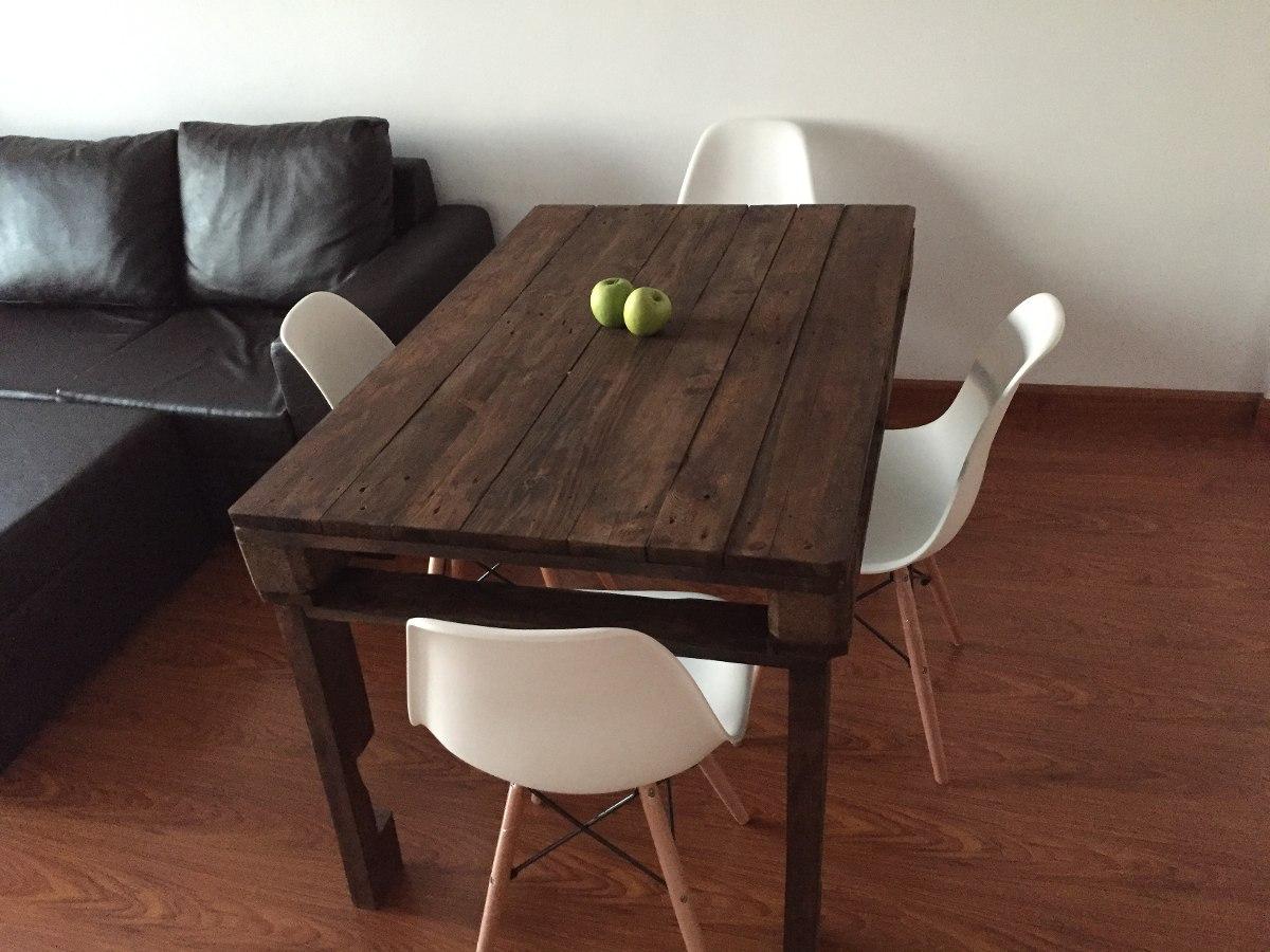 mesa de comedor madera de palet palets pallet europalet cargando zoom - Mesas De Palet