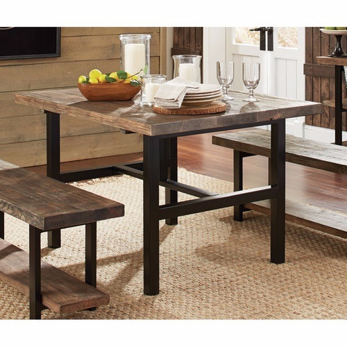 mesa de comedor madera exotica vintage