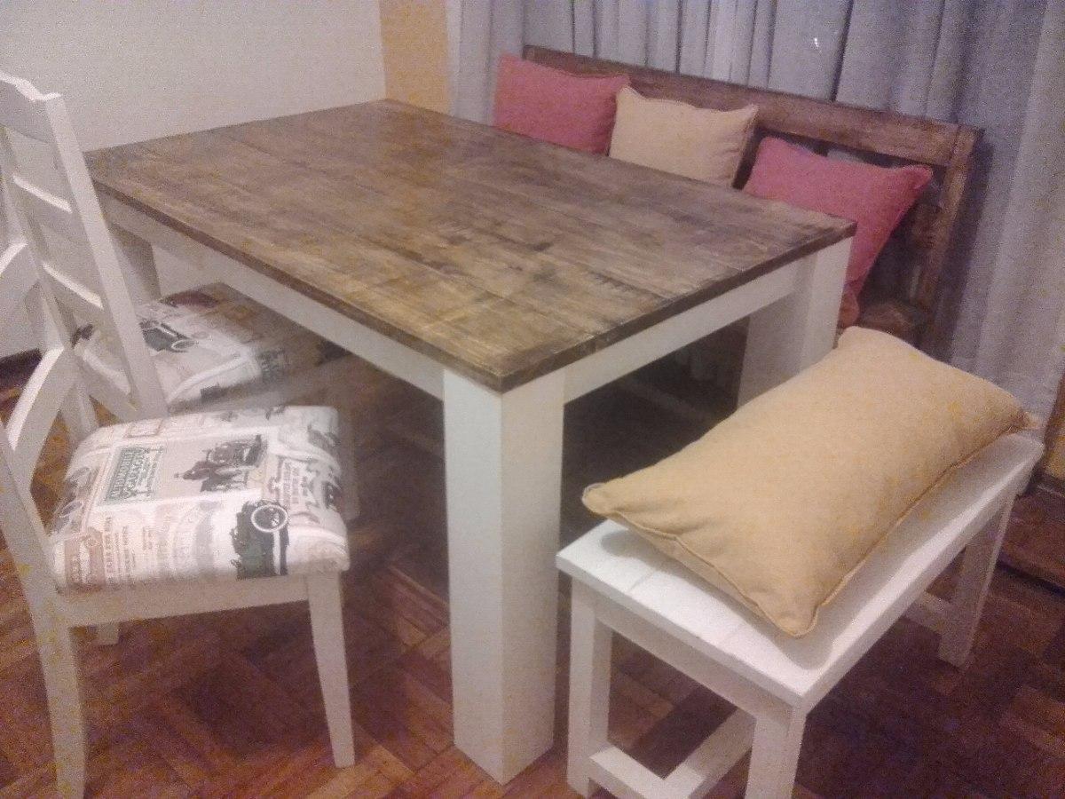 Mesa de comedor madera maciza alamo en for Mesa comedor madera maciza