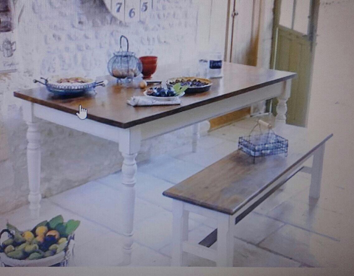 Mesa de comedor madera maciza rustica comb cedro y alamo - Mesa comedor madera maciza ...