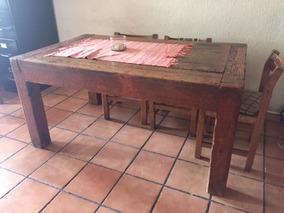 Mesa De Comedor Madera Rústica Muy Sólida