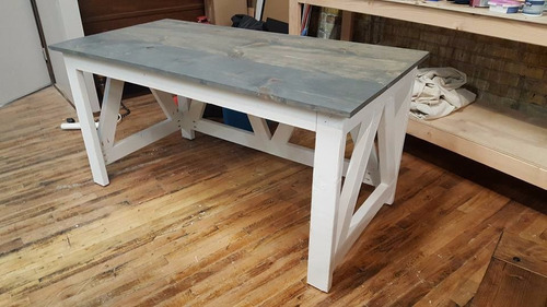 mesa de comedor madera solida tropical tipo casa de campo