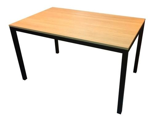 mesa de comedor madera y hierro 150x80 calidad premium