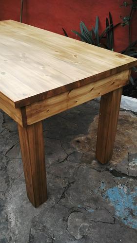 mesa de comedor- mesa de álamo maciza- reforzada fabricantes