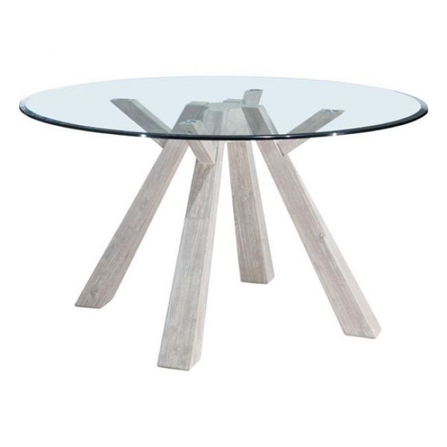 Mesa De Comedor Modelo Beaumont Cristal Redonda - Acacia ...