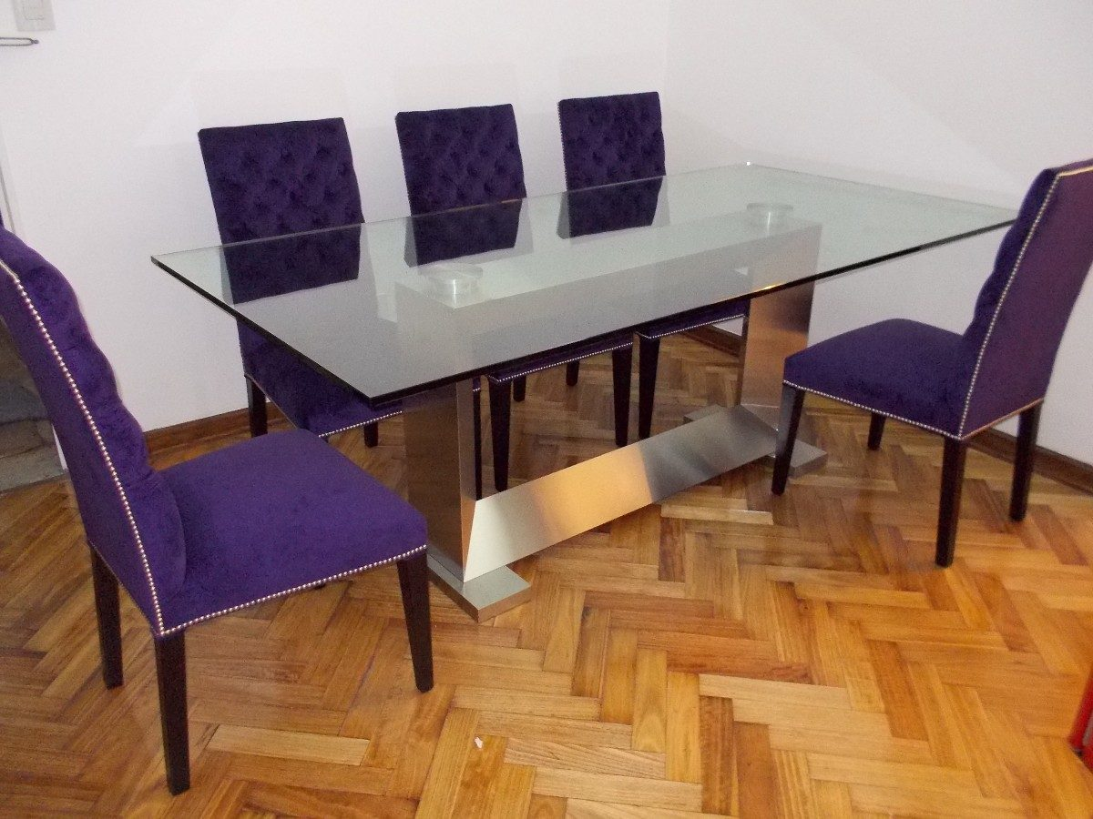 mesa de comedor acero