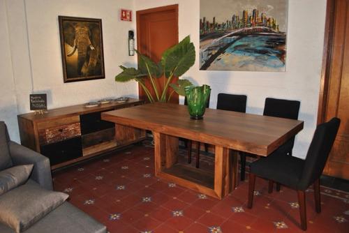 mesa de comedor nogal 200x100cm