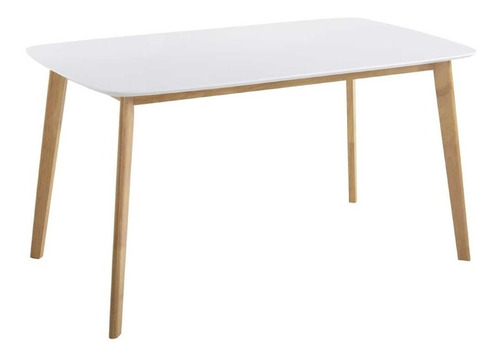 mesa de comedor nordica 120 x 80 rectangular claire