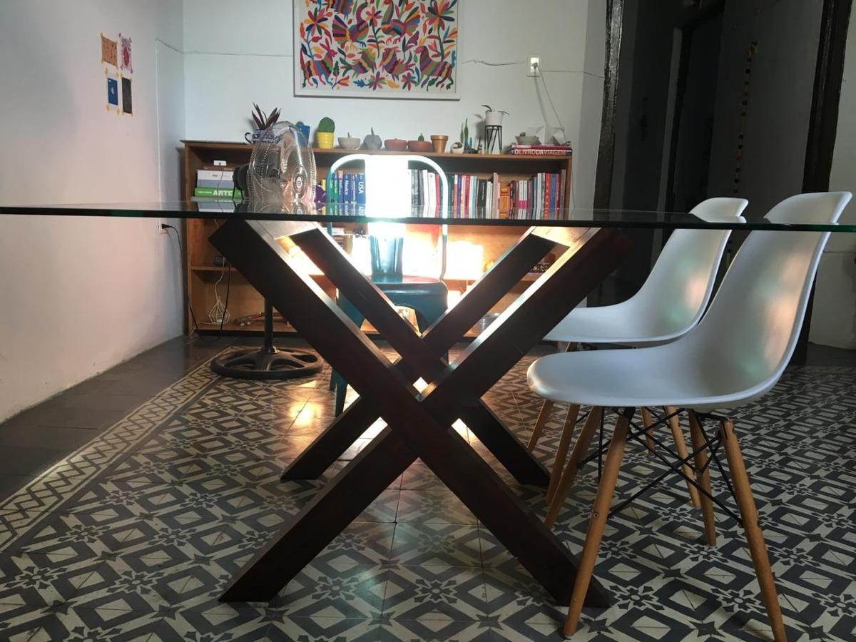 Mesa De Comedor Para 6 Personas De Madera Y Cristal - $ 9,000.00 en ...