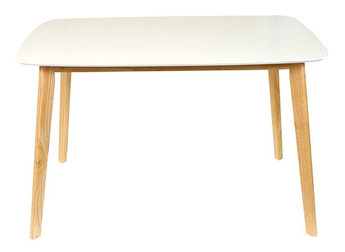 mesa de comedor rectangular claire 120 x 80 madera nordica