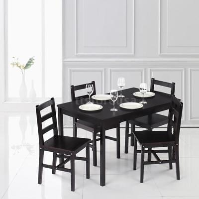 Mesa De Comedor Rectangular De 5pcs Set 4 Sillas Cocina Sala ...