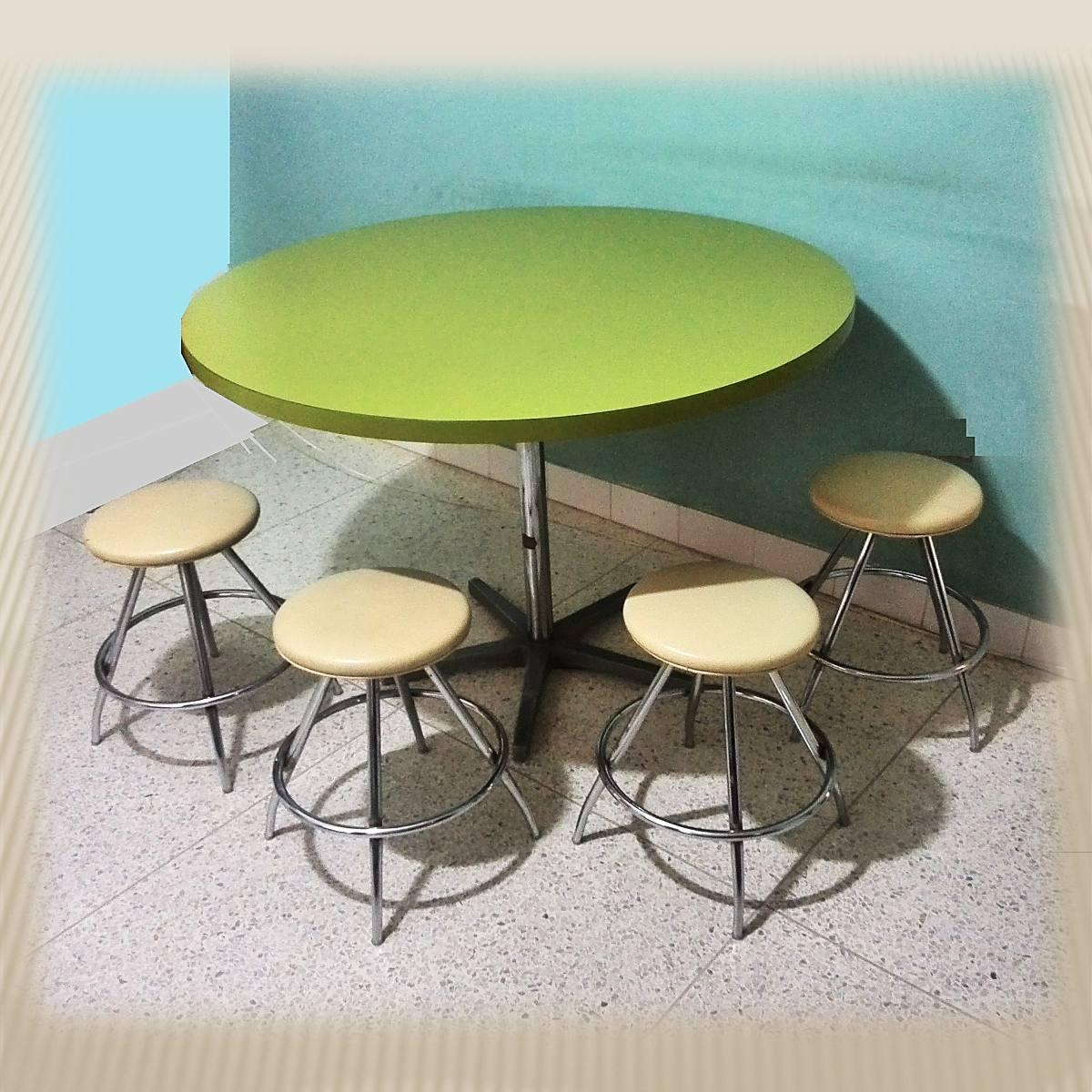 Mesa de comedor redonda pantry en formica color verde bs - Mesa salon redonda ...